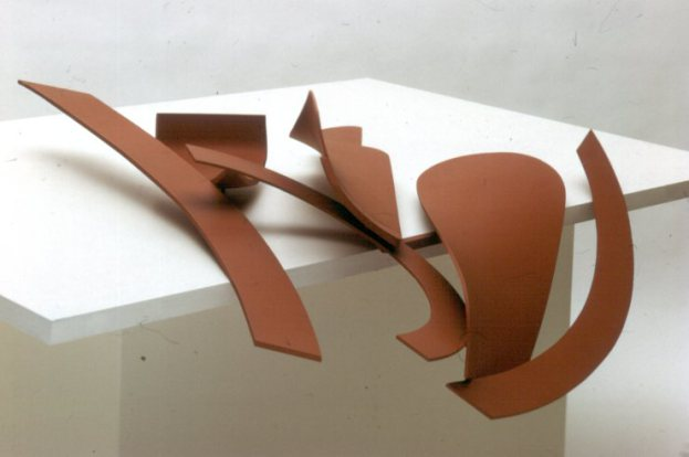 Anthony Caro, Table Piece LXXXII, painted steel, 1969