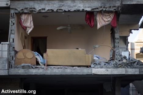 Living Room, Gaza City, August 2014, Credit: Activestills.org